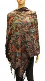 Wholesale Butterfly Design Pashmina Black
