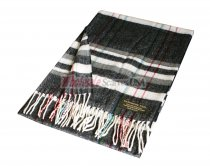 Cashmere Feel Plaid Scarf Black/White