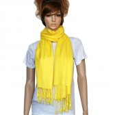 Solid Pashmina Bright Yellow