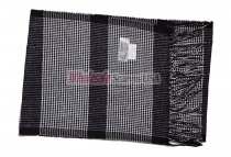 Cashmere Feel Plaid Scarf Black/White #705
