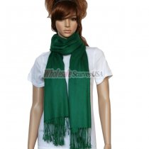 Solid Pashmina Dark Green