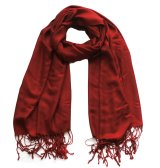 Solid Pashmina Ruby Red