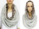 Infinity Faux Fur Solid Scarf Light Grey