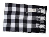 Cashmere Feel Checker Scarf Black/White
