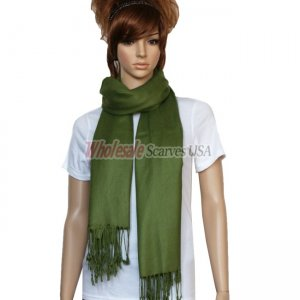 Solid Pashmina Olive Drab
