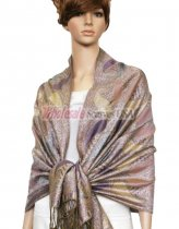 Metallic Pashmina Pink Purple