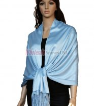 Super Solid Pashmina Sky Blue