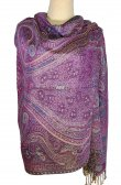 Giant Paisley Shawl Purple