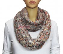 Infinity Marble Knit Scarf Light Grey