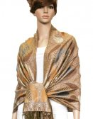 Metallic Pashmina Tan