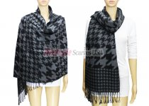 Hound Tooth Pashmina Black / Grey