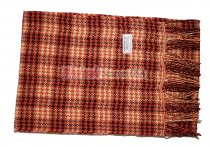 Cashmere Feel Plaid Scarf Orange #W019-2