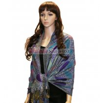 Beautiful Paisley Pashmina Purple/Blue