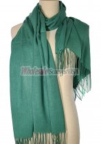 Silky Light Solid Pashmina Green