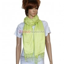 Solid Pashmina Bright Green