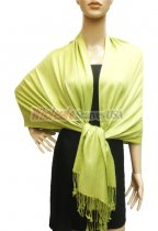 Premium Solid Pashmina Lime Green