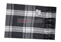 Cashmere Feel Plaid Scarf Black/Grey #34035