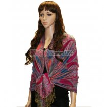 Beautiful Paisley Pashmina Fuchsia