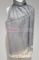Sheer Metallic Scarf Grey