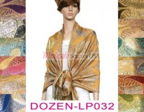 Metallic Pashmina 1 DZ, Asst. Color