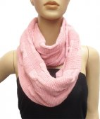 Wholesale Infinity Solid Scarf Pink