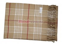 Cashmere Feel Plaid Scarf Tan