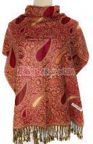 Thicker Paisley Shawl Red