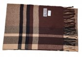 Cashmere Feel Plaid Scarf Brown #750