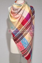 Paisley Stripe Pashmina Yellow