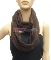 Wholesale Infinity Solid Scarf Brown