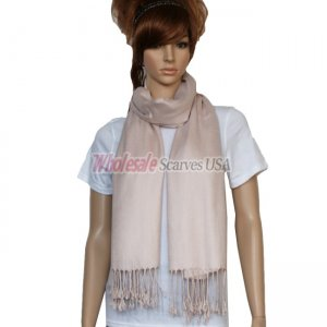 Solid Pashmina Pearl Pink
