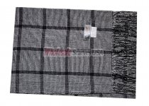 Cashmere Feel Plaid Scarf Black/White #51753