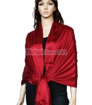 Super Solid Pashmina Burgundy