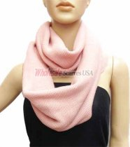 Infinity Solid Knit Scarf Pink
