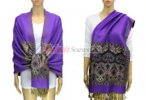Pashmina Heart Pattern Purple