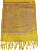 Wholesale Paisley Heart Pashmina Yellow