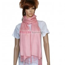 Solid Pashmina Peach Pink