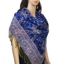 Small Paisley Scarf Royal Blue
