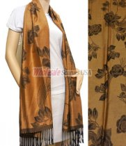 Rose Pashmina Golden Brown