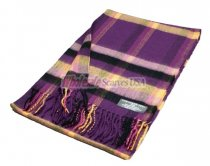 Woven Plaid Scarf #28-01 Violet Red