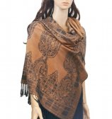 Paisley Chain & Border Scarf Bronze