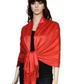 Super Solid Pashmina Orange Red