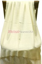 Silky Light Solid Pashmina Cream