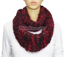 Infinity Fluffy Knit Scarf Black