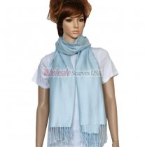 Solid Pashmina Alice Blue