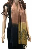 Two Tone Floral Scarf Bronze