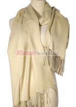 Silky Light Solid Pashmina Light Beige