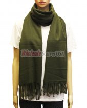 Cashmere Feel Pashmina Olive Green