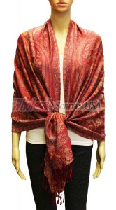 Wholesale Gaint Paisley Pashmina Red