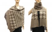 Hound Tooth Pashmina Brown